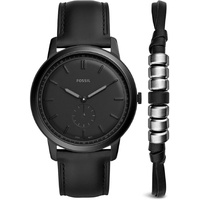 Fossil The Minimalist Leder 44 mm FS5447 Set