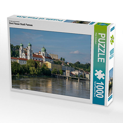 Drei Flüsse Stadt Passau Lege-Größe 64 x 48 cm Foto-Puzzle Bild von Peter Schickert Puzzle