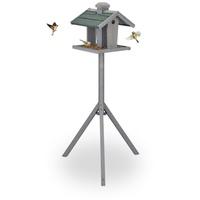 Relaxdays Vogelhaus Vogelfutterhaus mit Ständer,