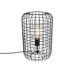 Industrielle Tischlampe schwarz 40 cm - Bliss Vefa
