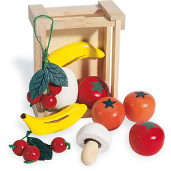 Pinolino® Kaufladensortiment Kiste mit Obst, (11-tlg)