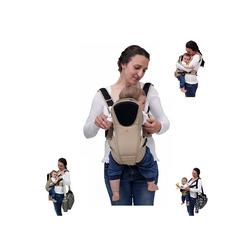 Moni Babytrage Babytrage Kinetic 3 in 1, Bauch- und Rückentrage von Geburt an bis 1 Jahr beige