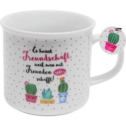 Tasse mit Kaktus Freundschaft