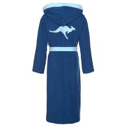 Unisex-Bademantel Jack, KangaROOS, mit Kangaroo auf dem Rücken blau XL - 125 cm
