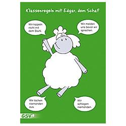 Klassenregeln mit Edgar, dem Schaf, 4 Poster