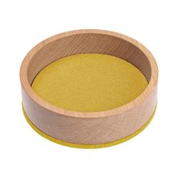 HEY-SIGN Organizer Ablageschale Large Ø 26,5 cm aus Filz/Holz; Taschenleerer, Schlüsselablage, Schmuckablage; Made in Germany gelb