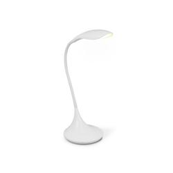 home sweet home Schreibtischlampe Schreibtischlampe Leselampe WING weiß - LED 480lm 3000K - 37,5cm - Touch - Dimmer