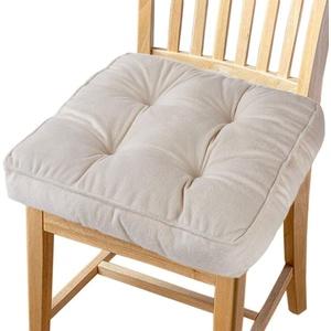 Big Ant Sitzkissen Weiche Stuhlkissen mit Bändern, Stuhl Auflage Sitzpolster aus 100% Baumwolle Sitzerhöhung Kissen für Haus, Garten, Auto, Büro, Essensstuhl, Sofa und Alle Stühle (1 Stück)