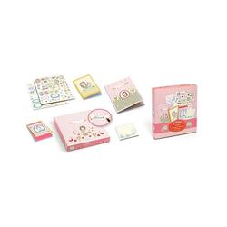 DJECO Notizbuch Notiz- und Stickerset Rosalie rosa