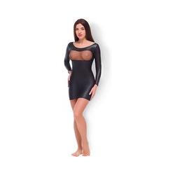 Allure 'Fishnet & Wet Look Dress'