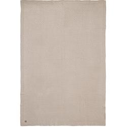 Decke, 75 x 100 cm, Bliss knit nougat beige Gr. 100 x 75