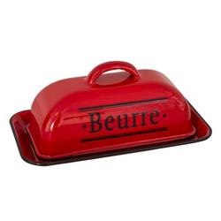 AnticLine Butterdose Butterdose Butterglocke Butterschale Emaille Rot Beurre Antic Line SEB16610