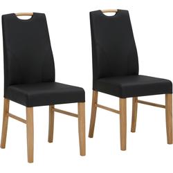 Home affaire Essgruppe Nils (Set, 5-tlg Tisch 140/90 cm, 4 Polster-Stühle) beige Essgruppen Tische Sitzmöbel-Sets