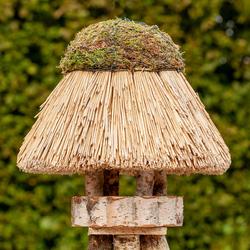 VOSS.garden Vogelhäuschen Amrum mit Reetdach - rund, Ø 45cm