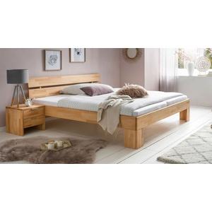 Vollmassives Bett 180x200 cm aus geölter Kernbuche - Tonia