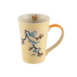 Mila Becher Mila Keramik-Tee-Becher Vögel, Keramik