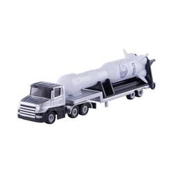 Siku Spielzeug-Auto SIKU 1614 Tieflader mit Rakete 1:55