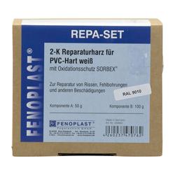 FENOPLAST Reparatur SET RAL 9010 für Kunststofffenster reinweiss 2K Reparaturharz