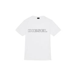 Diesel Unterhemd Herren T-Shirt, UMLT-JAKE HEMD, Rundhals, Print, weiß S