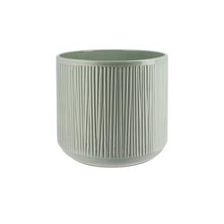 Übertopf ¦ grün ¦ Keramik Ø: 23