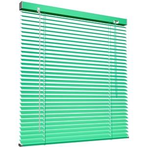 Victoria M. Aluminium Jalousie 120 x 130 cm, grün, Jalousie ohne Bohren, inkl. Klemmclips