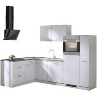 wiho Küchen Winkelküche Michigan L-Form E-Geräte 260 x 170 cm weiß