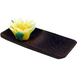 Guru-Shop Dekoschale Schale aus Kokosholz, Kokosschale oval - Design 5 20 cm x 2 cm x 10 cm