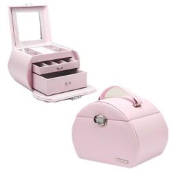 Seelux Schmuckkoffer aus Pu-Leder Pink Schmuckkasten NEU