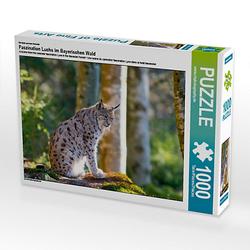 Faszination Luchs im Bayerischen Wald Lege-Größe 64 x 48 cm Foto-Puzzle Bild von Christian Haidl Puzzle