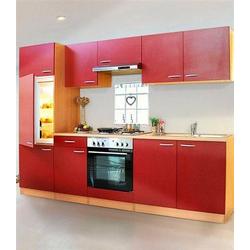 RESPEKTA Küchenzeile Basic, mit Edelstahl-Kochmulde, Breite 270 cm rot