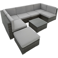 Tectake Venedig Lounge-Set grau