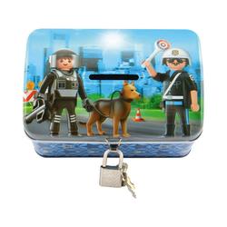 United Labels® Spardose Spardose Playmobil Feuerwehr blau