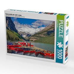 Kanuverleih am Lake Louise Lege-Größe 64 x 48 cm Foto-Puzzle Bild von Dieter Wilczek Puzzle