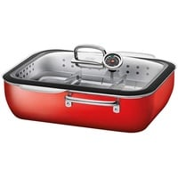 Silit ecompact Dampfgarer mit Deckel 35,6x33,3 cm Energy Red