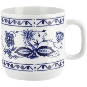 """Kahla Becher mit Henkel  """"Rosella"""" Zwiebelmuster ¦ blau ¦ Porzellan Ø: 8.7"""