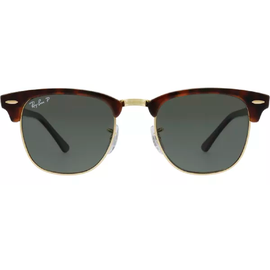 Ray Ban Clubmaster Classic RB3016 990/58 49-21 tortoise/green classic polarized