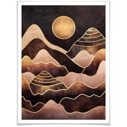 Wall-Art Poster Sonnenuntergang, Sonnenuntergang (1 Stück) 50 cm x 60 cm x 0,1 cm