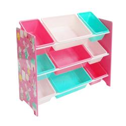 Natsen Aufbewahrungsbox, Spielzeugregal mit 9 Aufbewahrungsboen, Kinderregal Bücherregal für Kinder, Spielzeugkiste Spielzeugbox Kindermöbel