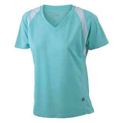 Damen Laufshirt mint/weiß
