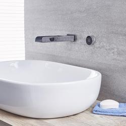 Wand-Wasserhahn Flach Digital für Waschtisch- oder Badewanne Thermostat Chrom - Parade