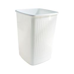 Bekaform Papierkorb, 50 Liter, weiß, Quadratischer Mülleimer aus Kunststoff, Farbe: weiß, Volumen: 50 Liter