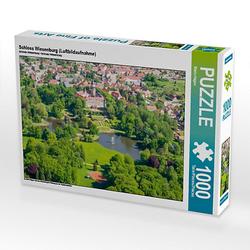 Schloss Wiesenburg (Luftbildaufnahme) Lege-Größe 64 x 48 cm Foto-Puzzle Bild von Mario Hagen Puzzle