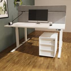 RWH MILANO Rollcontainer Schreibtischcontainer weiß