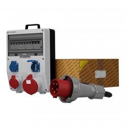 Stromverteiler TD-S/FI 1x63A 1x16A 2x230V SKH Kabel 5x10mm2 Doktorvolt® 0045