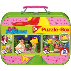 Schmidt Spiele Puzzle Puzzlebox im Metallkoffer, Bibi Blocksberg™, 320 Puzzleteile