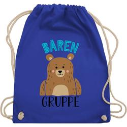 Shirtracer Turnbeutel Kindergartengruppe - Bärengruppe - Kindergarten Geschenk - Turnbeutel, Kinder Outfit blau