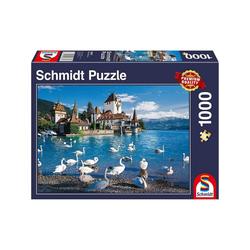 Schmidt Spiele Puzzle Schmidt 58367 - Premium Quality - Ufer mit Schwänen - Puzzle 1000 Teile, 1000 Puzzleteile