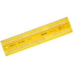 Schriftschablone Isonorm Typ B gerade (Mittelschrift) 3,5mm gelb