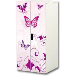 STIKKIPIX Möbelfolie SC16, (MÖBEL NICHT INKLUSIVE) Pink World Aufkleber-Set, SC16, passend für den Kinderzimmer Schrank STUVA von IKEA (Korpus: 60 x 128 cm)