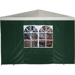 DEGAMO Seitenplane für Pavillon, 3x1,9 Meter, Polyester grün mit Fenster